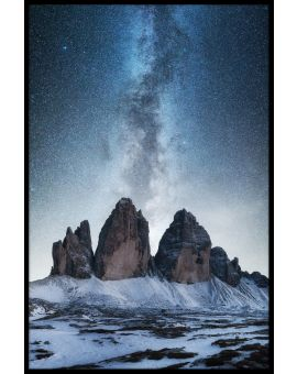 Dolomites And Milky Way Poster