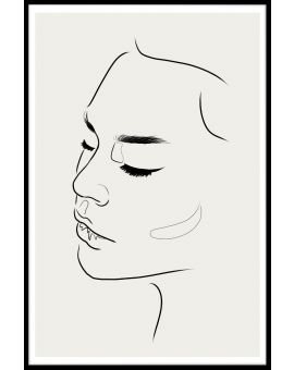 Line Art Female Face Poster