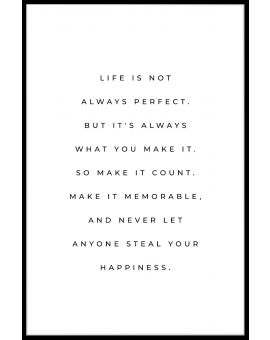 Life Is Not Perfect Poster