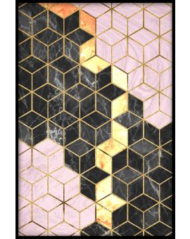 Abstract Textured Cubes Poster