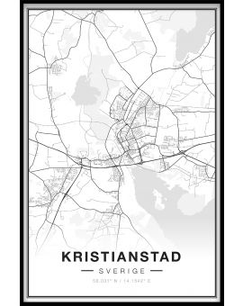 Kristianstad Map Poster