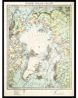 North Polar Chart 1897 Poster