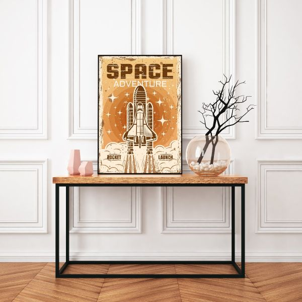 Space Adventure Vintage Tavla