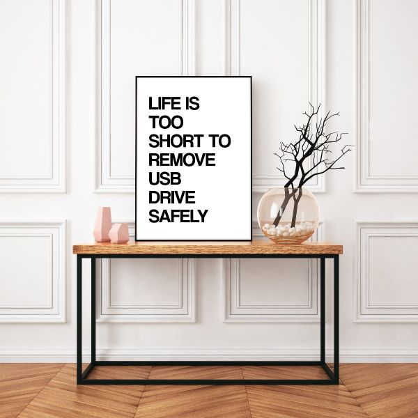 Life Is Too Short To Remove USB Safely N02 Tavla