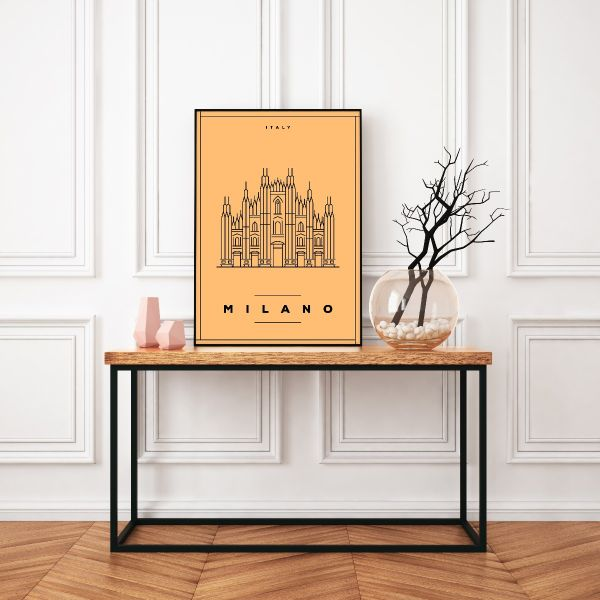 Milano Minimalist Illustration Tavla