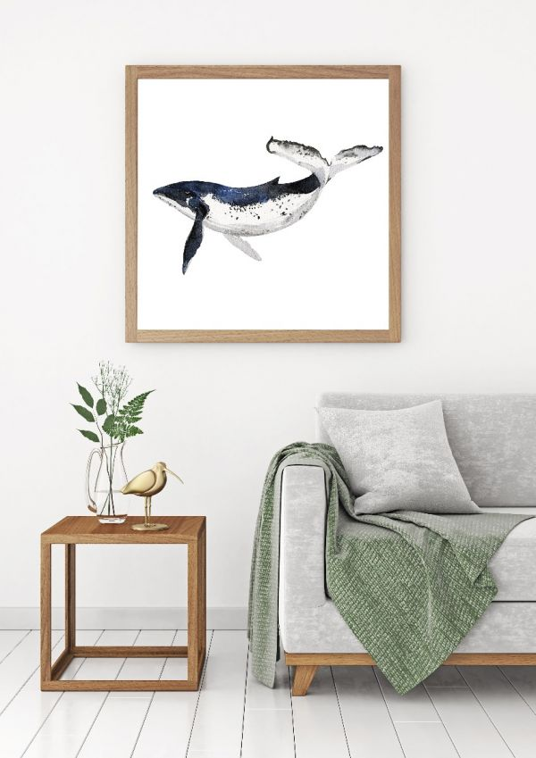 Whale Illustration Watercolor