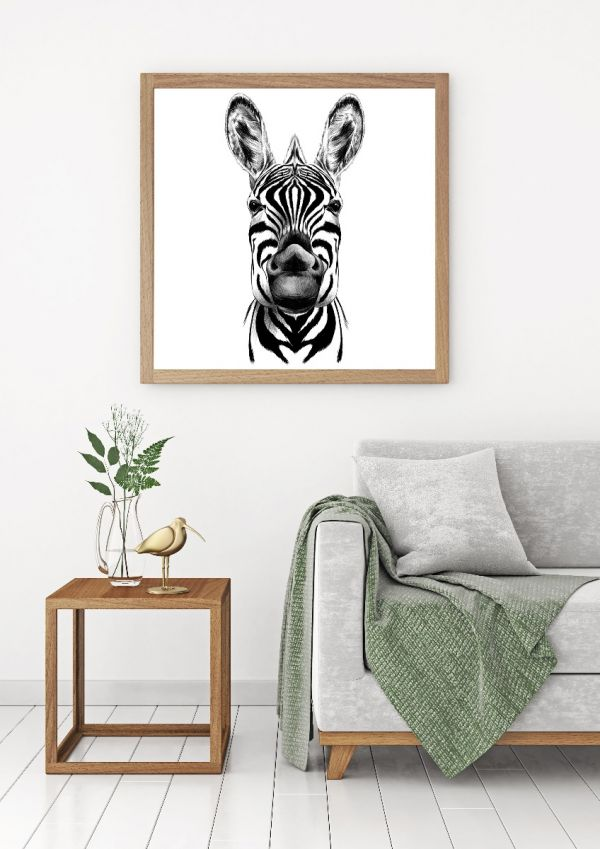 Hand Drawn Zebra Tavla