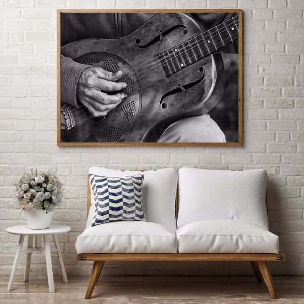 Guitar Player Close Up Print