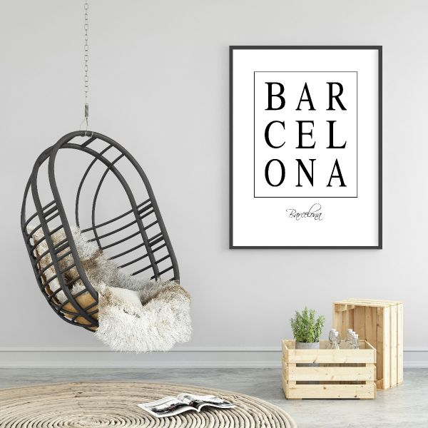 Barcelona Box Text Tavla