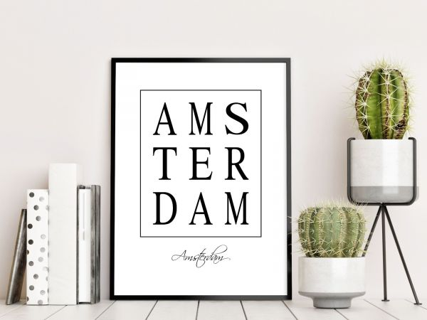 Amsterdam Box Text Tavla