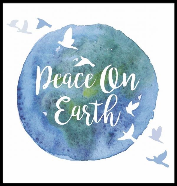 Peace On Earth Illustration Poster