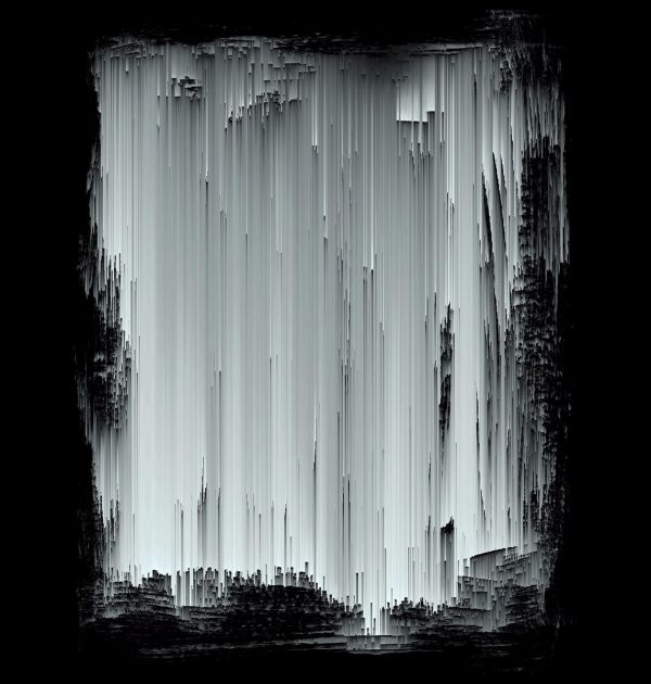 Dark Ice Abstract Poster