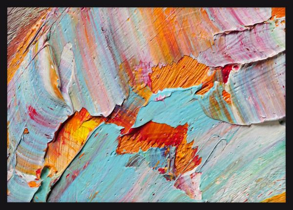 Abstract Macro Oil Paints Poster