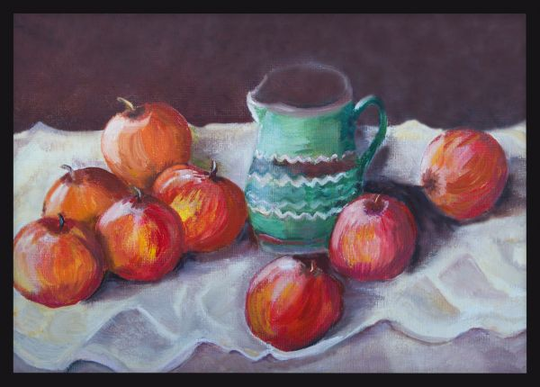 Apples Oil Painting Poster