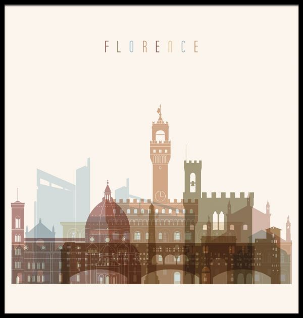 Florence Skyline Illustration Poster