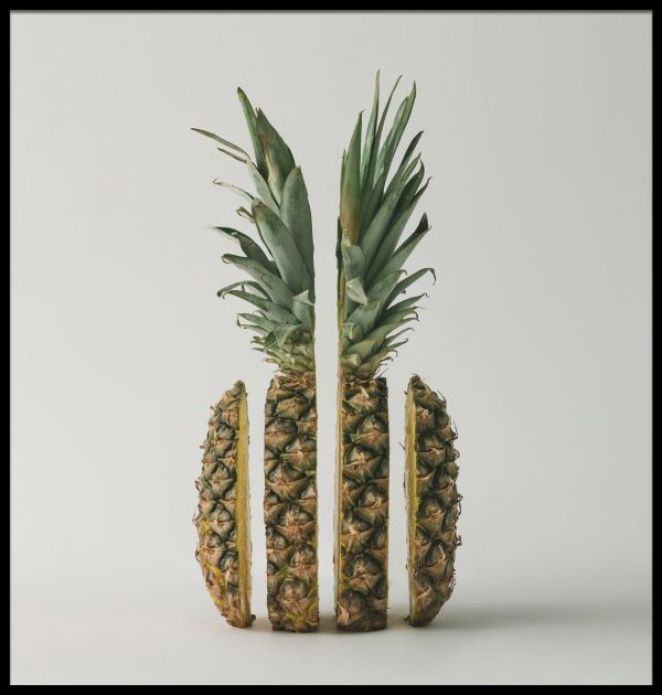 Sliced Pineapple Abstract Poster