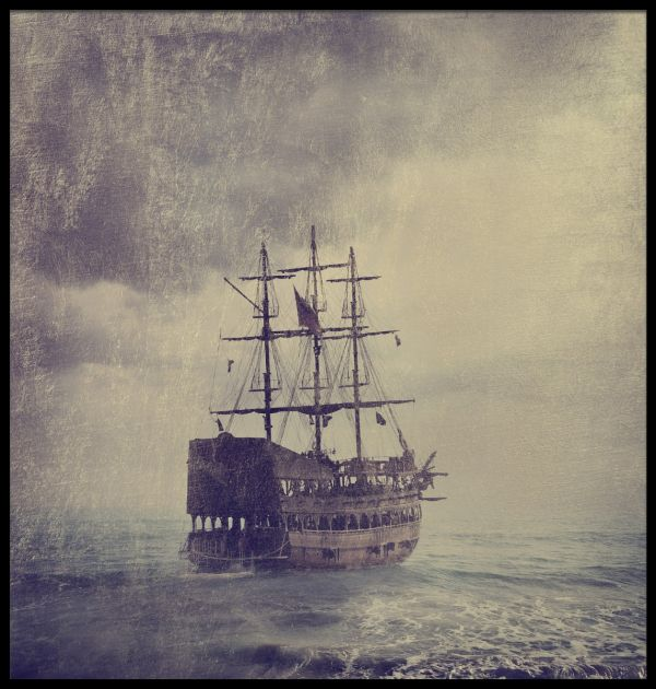 Old Pirate Ship Poster