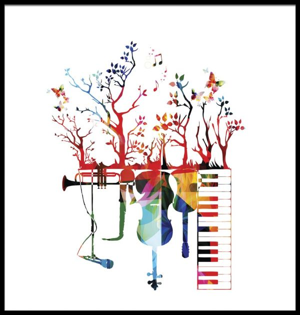 Musical Instruments illustration Poster