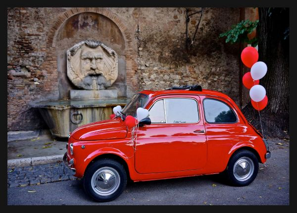 Classic Fiat Balloon Poster