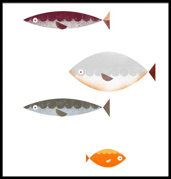 Fish Graphical Illustration Poster