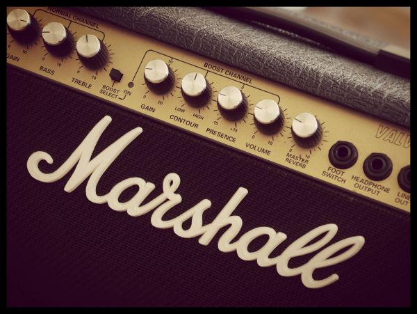 Vintage Marshall Amplifier Poster
