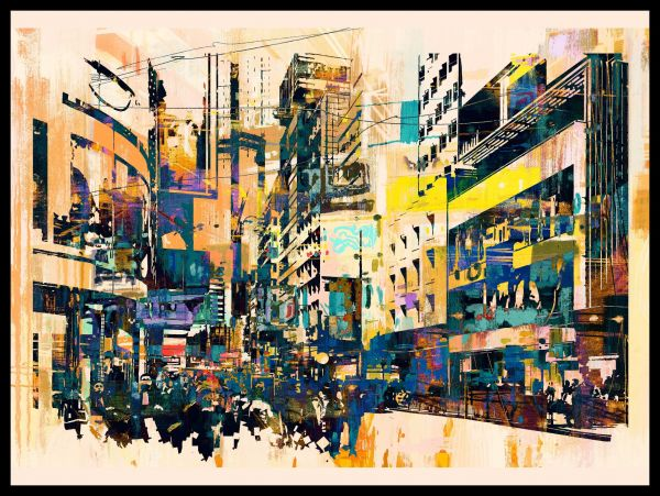 City Painting Abstract Poster