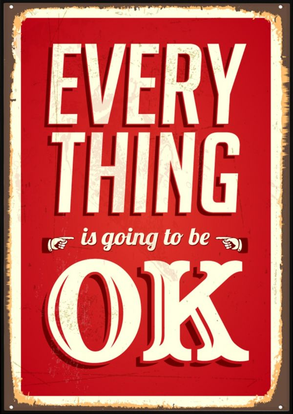 Everything OK Vintage Poster