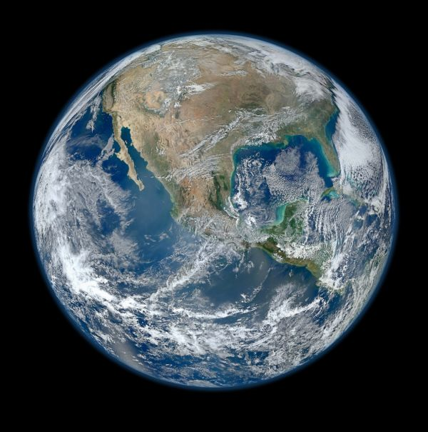 Planet Earth Satellite Poster