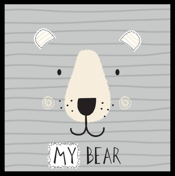 My Bear Cute Illustration Poster