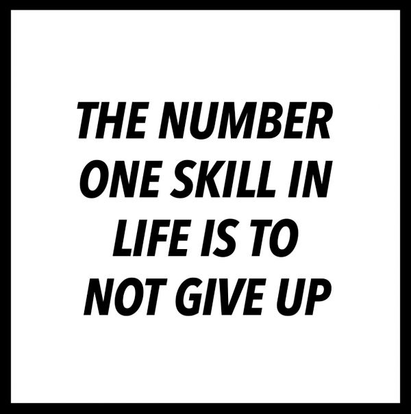 The Number One Skill In Life Poster