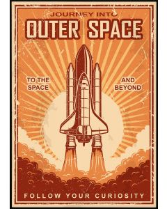 Outer Space Vintage Poster